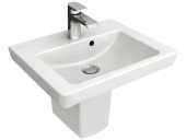 Villeroy & Boch Subway 2.0 - Lavamanos  450x370mm with 1 tap hole with overflow blanco sin CeramicPlus