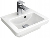 Villeroy & Boch Subway 2.0 - Lavamanos  370x305mm with 1 tap hole with overflow blanco sin CeramicPlus