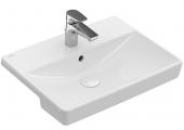 Villeroy & Boch Avento - Vorbauwaschtisch 550 x 360 mm mit Überlauf weiß alpin CeramicPlus