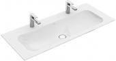Villeroy & Boch Finion - Schrankwaschtisch 4164 1200 x 500 mm ohne Überlauf weiß alpin CeramicPlus