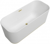 Villeroy & Boch Finion - Badewanne CoD Ventil Überlauf Design-Ring gold white alpin