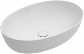 Villeroy & Boch Artis - Aufsatzwaschtisch 610 x 410 mm oval starwhite mit CeramicPlus