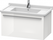 Duravit x-Large - Waschtischunterbau weiß hochglanz dekor 800 mm