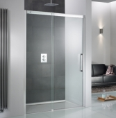 HSK K2P - Sliding door 2-piece, K2P, 50 ESG clear bright 1400 x 2000 mm, 41 chrome look