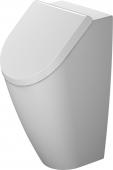 Duravit ME by Starck - Urinal rimless weiß/weiß seidenmatt Zulauf hinten HygieneGlaze