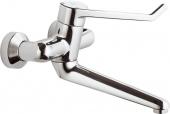 Ideal Standard CeraPlus Sicherheitsarmaturen - Miscelatore monocomando per lavabo per montaggio a parete con sporgenza 280 mm senza scarico a saltarello cromo