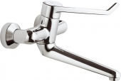 Ideal Standard CeraPlus Sicherheitsarmaturen - Miscelatore monocomando per lavabo per montaggio a parete con sporgenza 258 mm senza scarico a saltarello cromo