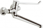 Ideal Standard CeraPlus Sicherheitsarmaturen - Miscelatore monocomando per lavabo per montaggio a parete con sporgenza 308 mm senza scarico a saltarello cromo