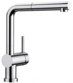 Blanco Linus-S-F - Küchenarmatur metallische Oberfläche Niederdruck chrom