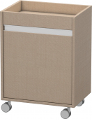 Duravit Ketho - Rollcontainer 360x500x670mm 1 Tür Türanschlag links leinen