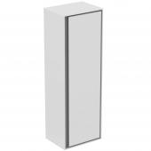 Ideal Standard Connect Air - Halbhochschrank 1 Tür 1200 x 300 x 400 mm weiß glänzend / hellgrau matt