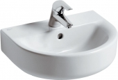 Ideal Standard Connect - Lavamani 450x360mm con 1 foro per rubinetto con troppopieno bianco con IdealPlus