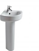 Ideal Standard Connect - Lavabo 480x440mm con 1 foro per rubinetto con troppopieno bianco senza  IdealPlus