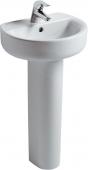 Ideal Standard Connect - Lavamani 450x360mm con 1 foro per rubinetto con troppopieno bianco con IdealPlus