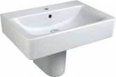 Ideal Standard Connect - Lavabo 650x460mm con 1 foro per rubinetto con troppopieno bianco senza  IdealPlus