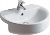 Ideal Standard Connect - Lavabo da semincasso 550x465mm con 1 foro per rubinetto con troppopieno bianco senza  IdealPlus