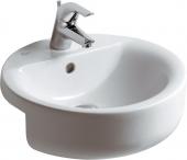 Ideal Standard Connect - Lavabo da semincasso 450x450mm con 1 foro per rubinetto con troppopieno bianco con IdealPlus