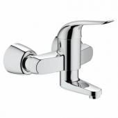 GROHE Euroeco Special - Miscelatore monocomando per lavabo per montaggio a parete con sporgenza 256 mm senza scarico a saltarello cromo