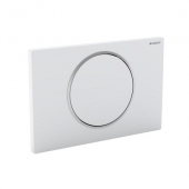 Geberit Sigma10 - Placca di comando for WC and 1 flush brushed stainless steel / brushed stainless steel