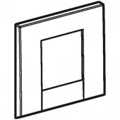 Geberit Bolero - Abdeckplatte mattverchromt für Urinalsteuerung