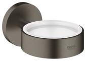 Grohe Essentials - Halter für Becher Seifenschale / Seifenspender hard graphite gebürstet