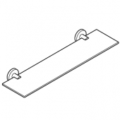 Grohe Essentials - Ablage 600 mm Material Glas  /  Metall supersteel