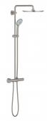 Grohe Euphoria XXL System 310 - Duschsystem mit Thermostatbatterie supersteel