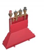 Hansgrohe Axor - Grundkörper 4-Loch Wannenarmatur mit Thermostat für Wannenrand mit Secuflexbox