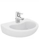 Ideal Standard Contour - Lavabo 400x330mm con 1 foro per rubinetto senza troppopieno bianco senza  IdealPlus
