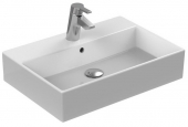 Ideal Standard Strada - Countertop Washbasin for Console 600x420mm con 1 foro per rubinetto con troppopieno bianco con IdealPlus