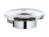 Keuco Plan - Porta sapone real crystal / chrome-plated
