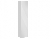 Keuco Royal Reflex - Tall cabinet 34031, hinged right, 1 door, with laundry basket, white / mirror