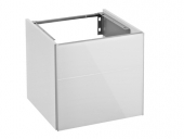 Keuco Royal Reflex - Vanity unit 34040, hinge right, 1-door, anthracite / anthracite