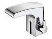 Keuco Elegance - Miscelatore elettronico a infrarossi da rete elettrica per lavabo Taglia XS con scarico a saltarello cromo
