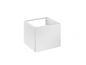 Keuco Edition 11 - Vanity unit WC 31198, door hinge right, white / white glass