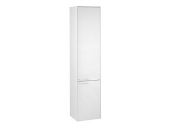 Keuco Royal 60 - Tall cabinet 32131, door hinge right, 2-door, white gloss
