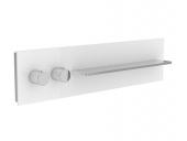 Keuco meTime_spa - Miscelatore termostatico a incasso per vasca/doccia per 2 utenze clear truffle / chrome