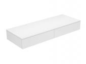 Keuco Edition 400 - Sideboard 2 Auszüge weiß / Glas trüffel satiniert