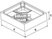 Poresta Systems - Expert Duschwannenträger für Bette 1200 x 1200 x 35