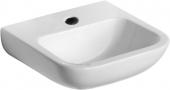 Ideal Standard Contour - Lavamani 500x420mm con 1 foro per rubinetto senza troppopieno bianco senza  IdealPlus