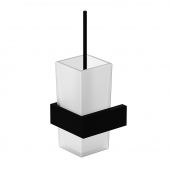 Steinberg Serie 460 - Bürstengarnitur matt black mit Glas satiniert weiß