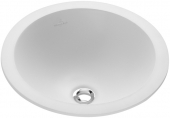 Villeroy & Boch Loop & Friends - Lavabo a incasso soprapiano per consolle 390x390mm senza fori per rubinetti con troppopieno bianco con CeramicPlus