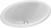 Villeroy & Boch Loop & Friends - Lavabo a incasso soprapiano per consolle 505x355mm senza fori per rubinetti con troppopieno bianco con CeramicPlus