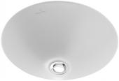 Villeroy & Boch Loop & Friends - Lavabo a incasso sottopiano 330x330mm senza fori per rubinetti con troppopieno bianco con CeramicPlus