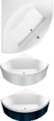 Villeroy & Boch Squaro - Vasca da bagno 1450 x 1450mm bianco