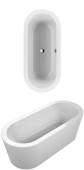 Villeroy & Boch Loop & Friends - Badewanne Oval & Friends (PD) 1800 x 800 weiß alpin