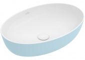Villeroy & Boch Artis - Aufsatzwaschtisch 610 x 410 mm oval fog