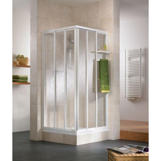 HSK - Corner entry 3-piece, 50 ESG clear bright 750-900 x 1850 mm, 95 standard colors