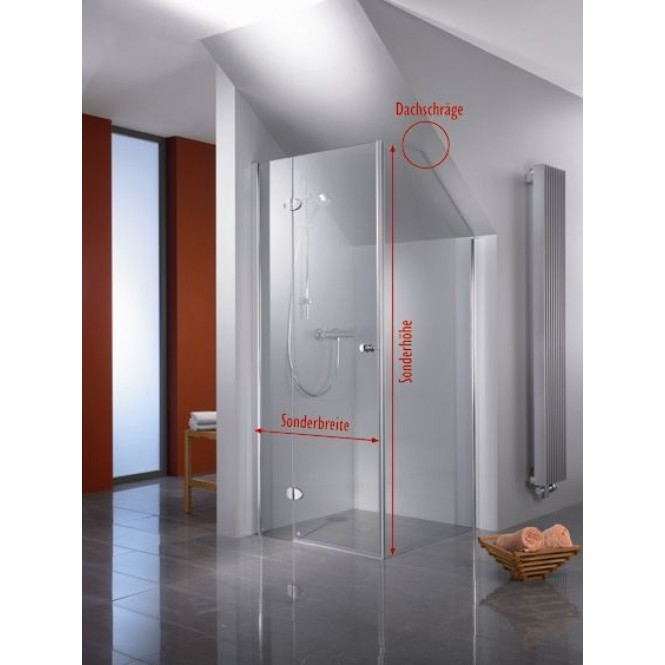 HSK Premium Classic - Pivot door for side panel, Premium Classic, 95 Standardfa Sonderanfertigung, 50 ESG clear bright