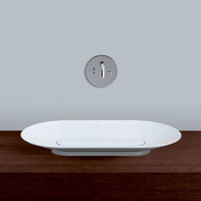 Alape SB - Countertop Washbasin for Console 700x400mm without tap holes without overflow branco without Coating